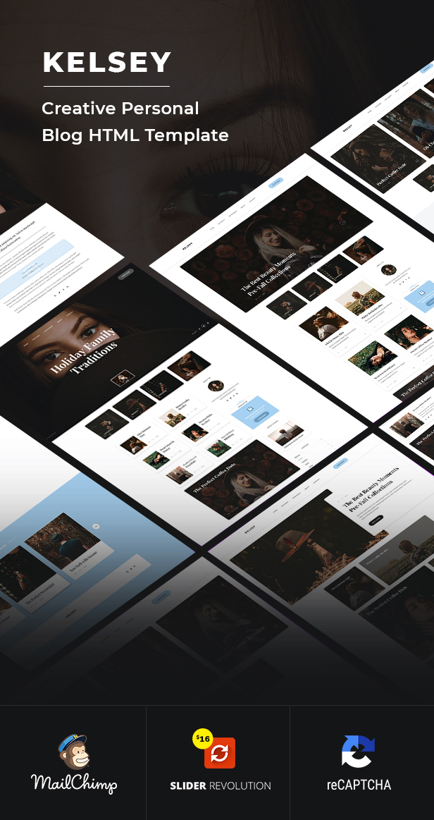 Kelsey - Creative Personal Blog HTML Template - 1